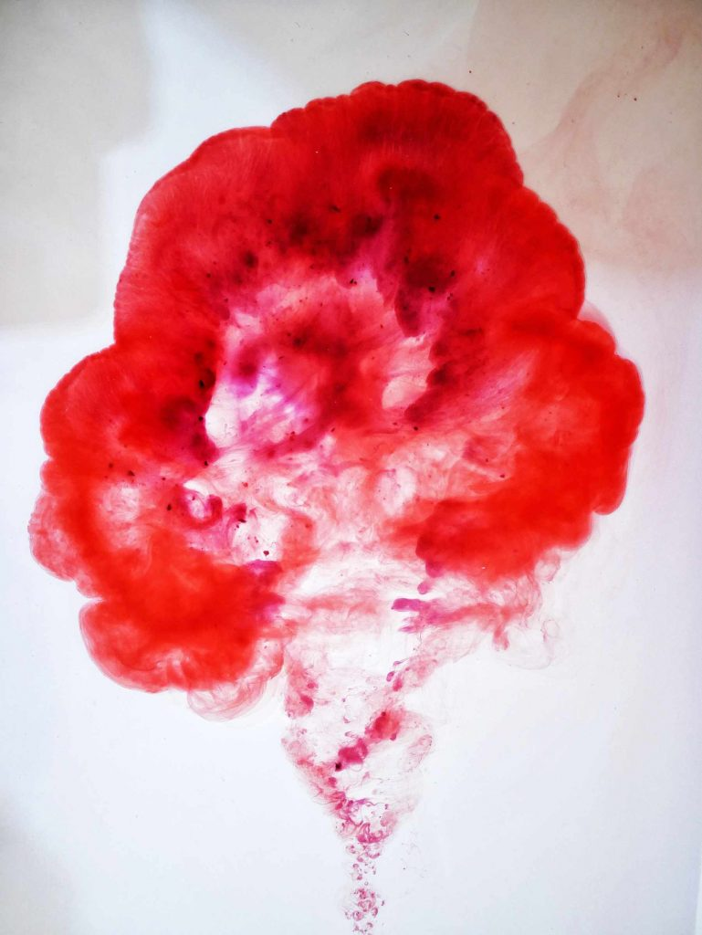 Creating art with period blood