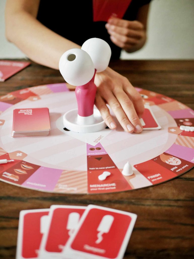 Board game about menstruation